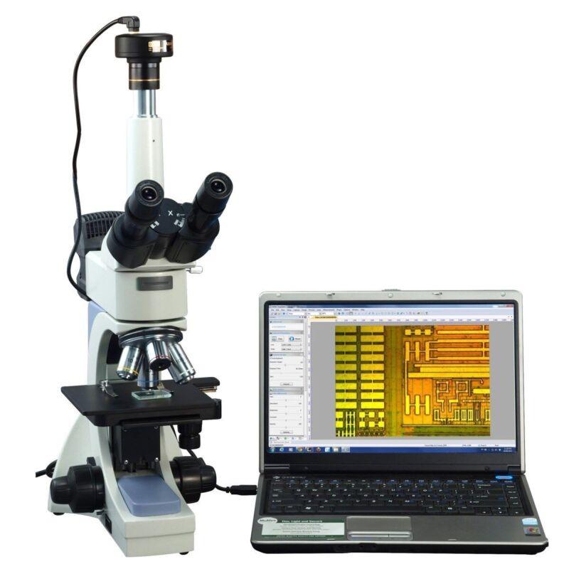 Omax 40-2000x Infinity Trinocular Polarizing Metallurgical Microscope+3mp Camera