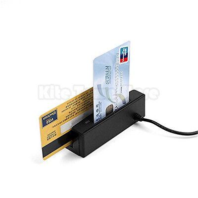 New Zcs100-ic Usb 3 Tracks Magnetic Stripe Reader Emv Smart Ic Chip Reader Us