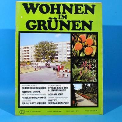 DDR Wohnen im Grünen 1/1977 Verlag für die Frau C Rosarium Sangerhausen Potsdam