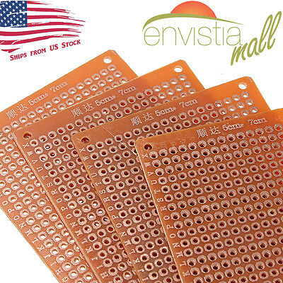 5pcs 5cm x 7cm FR-4 PCB Prototyping Perf Boards Breadboard DIY US