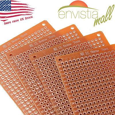 5pcs 5cm X 7cm Pcb Prototyping Perf Boards Breadboards Diy Us