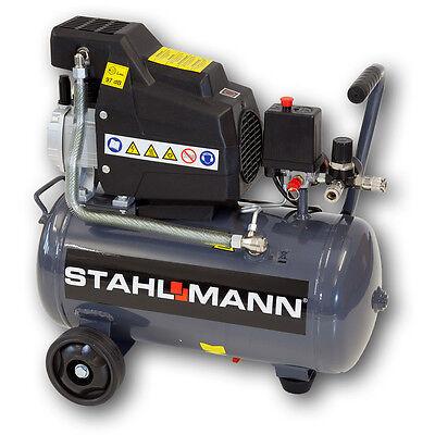 STAHLMANN Druckluft Kompressor 24 Liter öl-geschmiert 24l 24-L 24L