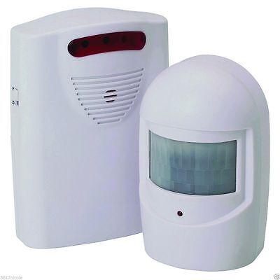 WIRELESS MOTION SENSOR DETECTOR DOOR GATE ENTRY BELL CHIME ALERT ALARM DOORBELL  Motion Alert Kit