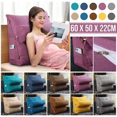 Ergonomisches Rückenkissen Lesekissen Keilkissen für Sofa Bett Büro 60x22x50cm