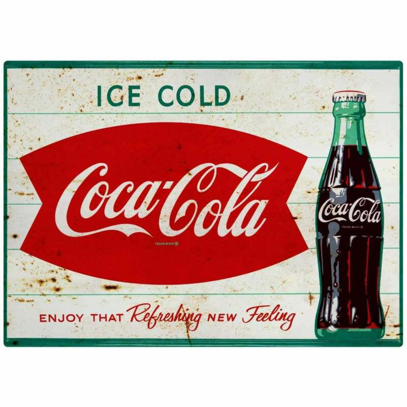Coca-Cola Ice Cold Fishtail Decal Peel & Stick Wall Graphic