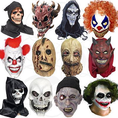Latex Halloween Kostüm mit Kapuze Clown Zombies Werwolf Schädel Reißverschluss