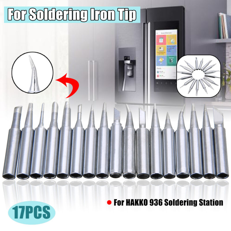 17Pcs 900M-T Lead-Free Soldering Iron Tip For HAKKO 936 Sold