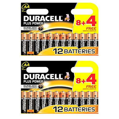 24 x Duracell Duralock Plus Power AA PLUS ALAKALINE BATTERIES EXPIRY 2024
