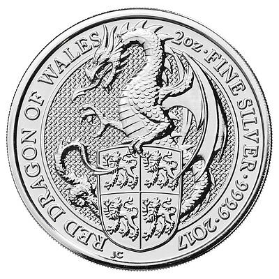 2017 Great Britain 2 oz Silver Queen's Beasts The Dragon Coin SKU46054