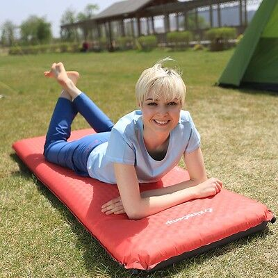 "NEW 4"" Thick Self-Inflating Camping Pad Mat Air Bed Outdoor Sleeping Mattresses"