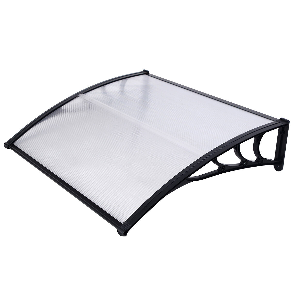 marquise de porte transparent 120 x 100 cm. Black Bedroom Furniture Sets. Home Design Ideas