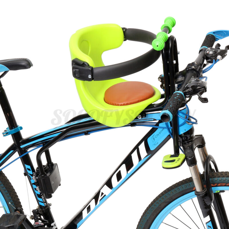 Kids Front Bike Seat Child Bicycle Safety Chair Baby Carrier Saddle w/ Pedal US