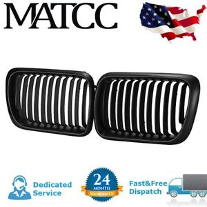 Black Kidney Grille Grill For Bmw E36 3 Series E36 318 323 328 M3 1997-1999