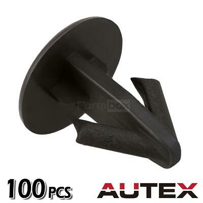 AUTEX 100pcs Hood Seal Clips Retainer Fastener for 1990-2016 Honda Accord 1990 Honda Accord Lx