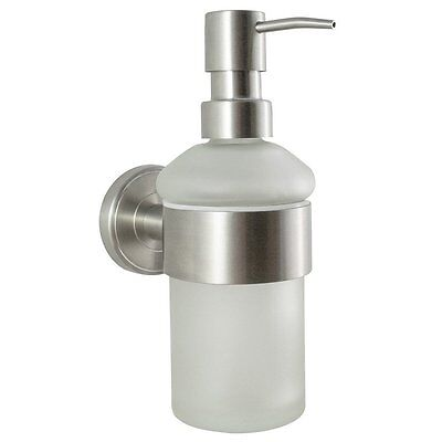 Badserie Ambiente - Seifenspender   Seifenhalter   Wandmontage   Edelstahl Glas