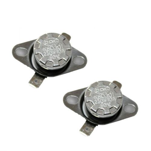 2Pcs KSD301 N.C 90°C Thermostat Temperature Thermal Control Switch 10 Amp 250V