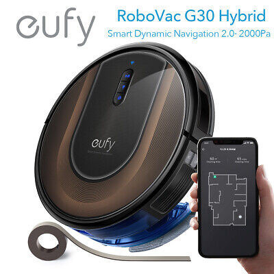 eufy RoboVac G30 Hybrid Smart Vacuum Cleaner Robot Wet Mopping Sweeper Wi-Fi App