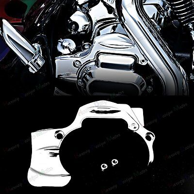 Chrome Transmission Cover (Chrome Transmission Shroud Cover For Harley Street Glide FLHX FLHXS CVO)