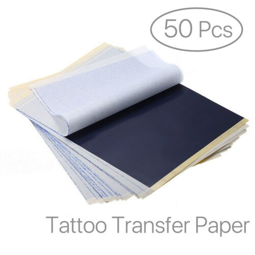 50 Blatt Carbon Tattoo Pauspapier Transferpapier Schablone Selberdrucken A4
