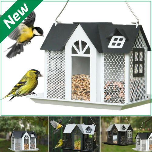 KINGSYARD Bird Feeder Metal Mesh House Wildlife Seed Feeders