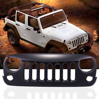 Black Front Angry Bird Grille for 2007-2017 Jeep Wrangler JK Unlimited Rubicon