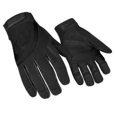 Ringers Gloves R 353-11 Black Padded Palm Rope Rescuerappelling Glove - X-large