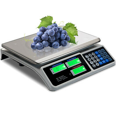 Digital Commercial Price Scale 66lbs Food Fruit Electronic Counting Lcd Display