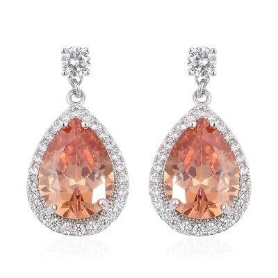 Dangle Drop Earrings Champagne Cubic Zirconia CZ Jewelry Gif