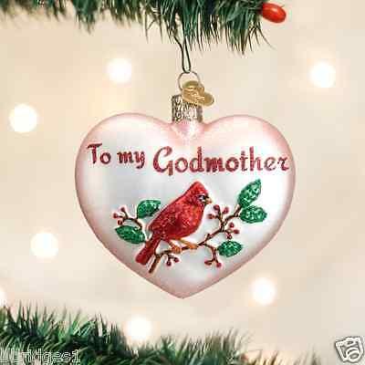 (*Godmother Heart* Love Family Grandma [30046] Old World Christmas Ornament - NEW)