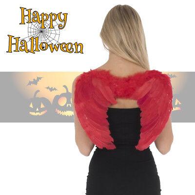 Red Feather Angel Wings Halloween Fancy Dress Costume Christmas Party Hen Night (Red Angel Kostüme)