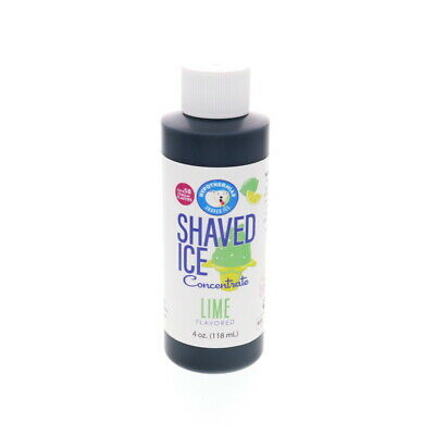 Lime Hawaiian Shaved Ice And Snow Cone Unsweetened Flavor Concentrate 4 Fl Oz