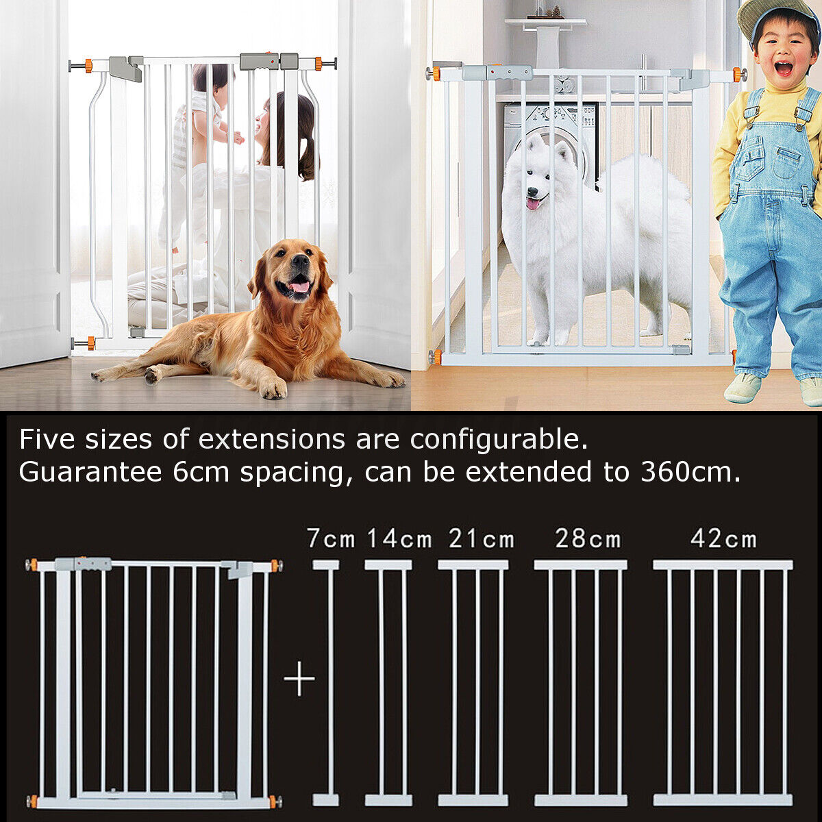 30'' Tall Safety Gate Baby Toddler Indoor Security Walk Thro