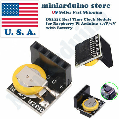 2pcs Ds3231 Real Time Clock Rtc Module For Raspberry Pi Arduino 3.3v5v Battery