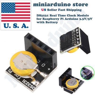 2pcs Ds3231 Real Time Clock Rtc Module For Raspberry Pi Arduino 3.3v5v Battery