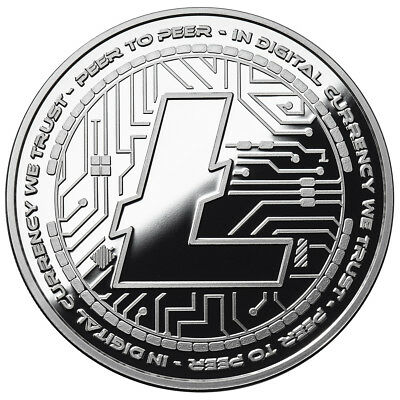 Litecoin Crypto Icon Proof Coin 1 Oz  999 Silver Commemorative Bitcoin 3000 Mint