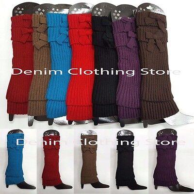 Women Leg Warmers Knee High Knit Crochet Leggings Boot Socks Slouch Warm - Crochet Boot Socks