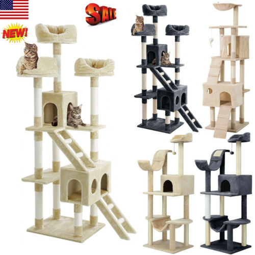 Cat Tree Tower Condo Furniture Scratching Post Pet Kitty Pla