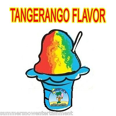 Tangerango Syrup Mix Snow Cone Shaved Ice Flavor Gallon Concentrate 1