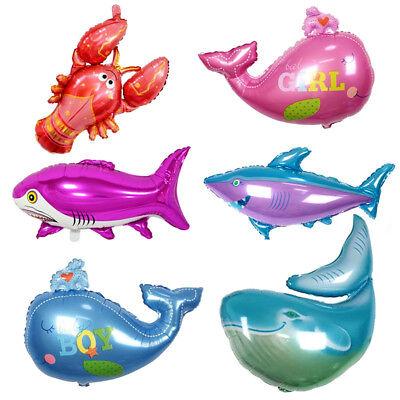 Aluminium Foil Balloon Sea Fish Whale Shark Balloons Party Decoration Kids Gift](Fish Balloons)