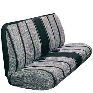 Black Full Size Saddle Blanket Bench Seat Cover Toyota