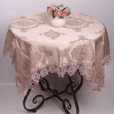 Light Blue / Brown Europe Style 3D Embroidery Party Wedding Table Cloth Covers ()