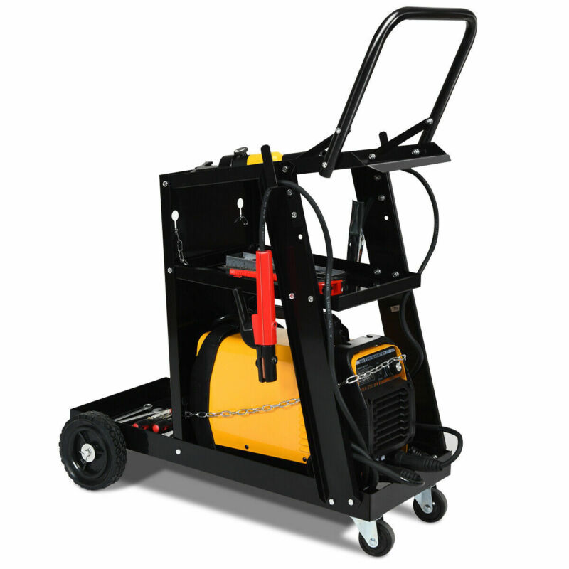 3-Tier Welding Cart Plasma Cutter Welder MIG TIG ARC Universal w/Tank Storage