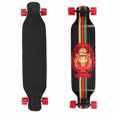 "41"" X 9-1/2"" Professional Longboard Skateboard Cruiser Through Downhill Complete"