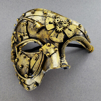 Steampunk Mask Phantom Half Face Halloween Masquerade Prom Costume Party Masks