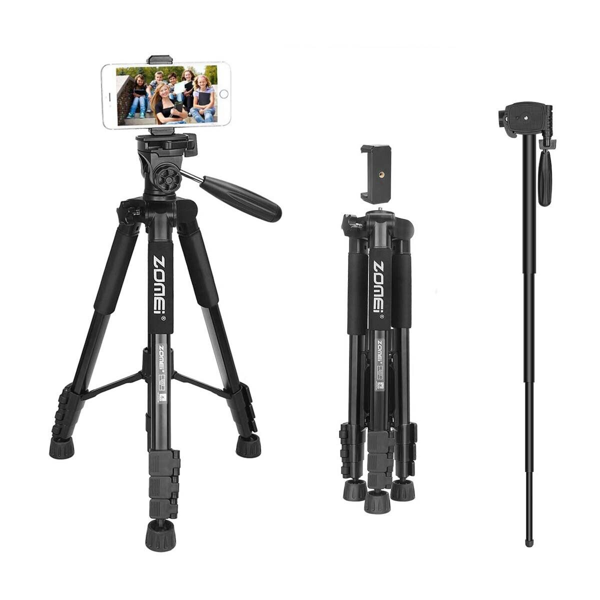 45b4422f2 ZOMEI Q222 Lightweight Aluminum Tripod Monopod Portable Travel Camera Stand  with 3-Way Pan Head and Carry Bag for Canon Nikon