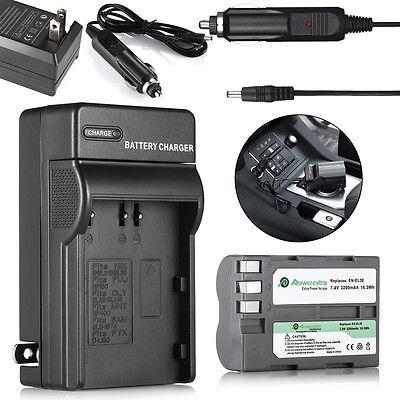 (2200mAh EN-EL3e Battery Pack + Charger for Nikon D700 D300 D200 D80 D90 D70s D50)