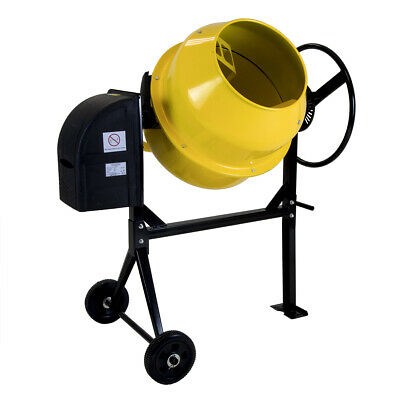 Charles Bentley Cement Mixer with Wheels - 120-125L - 230V 550W - Portable