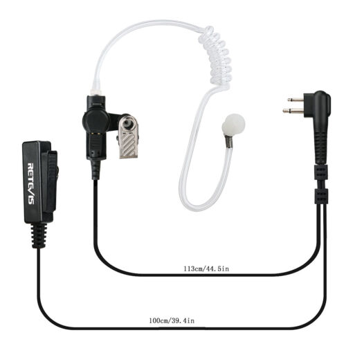 5Pcs 2-PIN PTT Headset Earpiece MIC for Motorola Radios CP88//PRO1150//CLS1410
