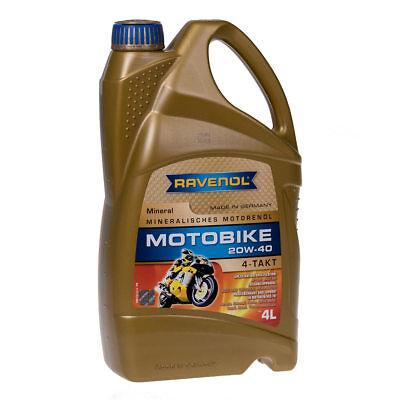 4 Liter Ravenol Motobike 4-T Mineral 20W40 4 Liter 1173123-004-01-999 (Suzuki Quad öl)