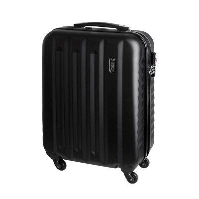 Equipaje de mano rígida con ruedas equipaje de mano 30 litros negro 811C segunda mano  Embacar hacia Spain